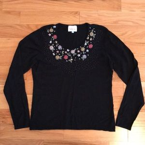 Embroidered and Beaded Dressy Top